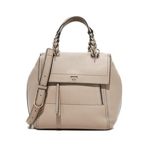 Tory Burch Half Moon Small Pebbled Leather Satchel